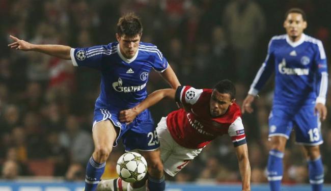 Schalke não se importou com presença da torcida londrina e bateu o Arsenal - Foto: Eddie Keogh/Reuters