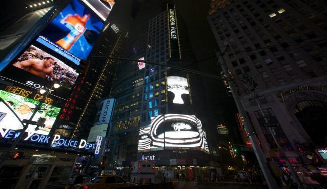 Documentário de Bel Borba nos telões da Time Square, em Nova York - Foto: Nurt Sun| Divulgação