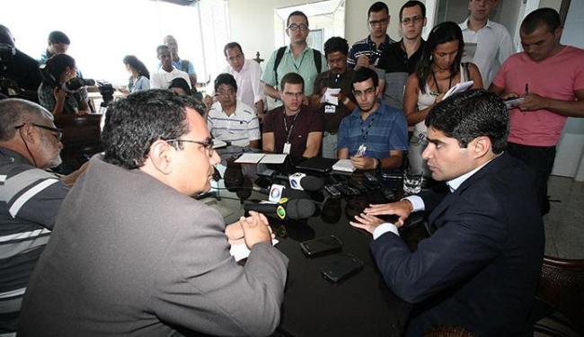 Candidato eleito concedeu primeira entrevista coletiva à imprensa nesta segunda-feira - Foto: Divulgação