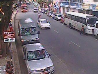 Na região do Relógio de São Pedro, o tráfego segue com tranquilidade - Foto: Reprodução   Transalvador