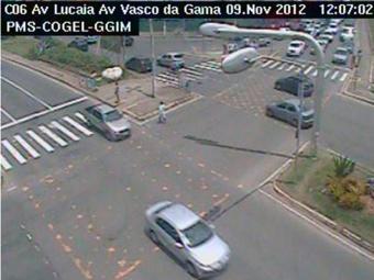 O trânsito na região da Lucaia é tranquilo - Foto: Reprodução | Transalvador