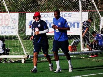 Fabinho se recupera de trauma no punho, mas deve ter condições para jogo contra o Náutico - Foto: Assessoria do Esporte Clube Bahia / Divulgação