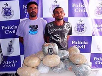 Segundo a polícia, a droga, acondicionada em 20 sacos plásticos, seria levada até Tucano - Foto: Divulgação | Polícia Civil