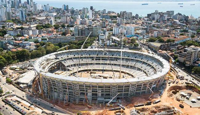 Arena é uma das mais adiantadas para a Copa de 2014 - Foto: Nilton Souza   Divulgação
