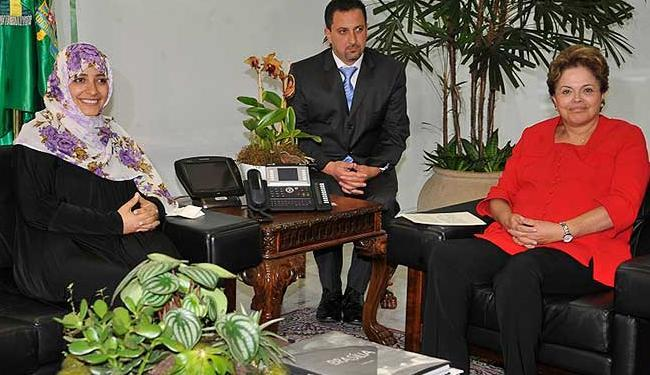 Prêmio Nobel da Paz em visita a presidente Dilma comentou reeleição de Obama - Foto: Agência Brasil