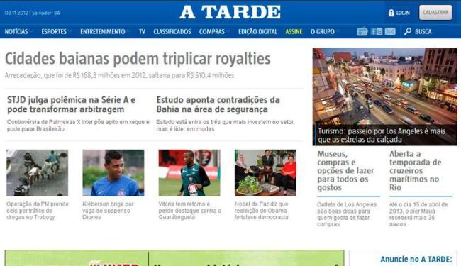 A diversidade dos conteúdos do portal conquistou mais visitantes - Foto: Reprodução   Ag. A TARDE