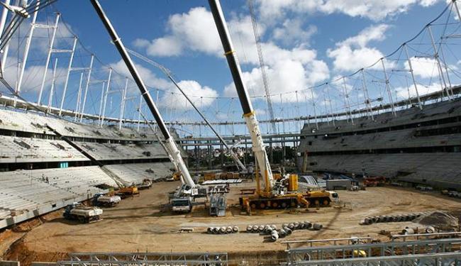 A Arena Fonte Nova espera ser confirmada como uma das sedes da Copa das Confederações - Foto: Margarida Neide   Ag. A TARDE