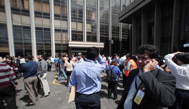 O prédio do Supremo Tribunal foi evacuado no início dos tremores - Foto: William Gularte | Ag. Reuters