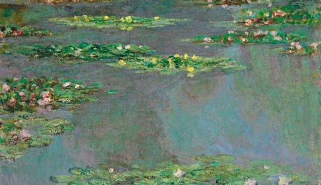 A obra é considerada um dos melhores da série do pintor, que retrata seu jardim de lírios em Giverny - Foto: Christie Imagens | Ag. Reuters