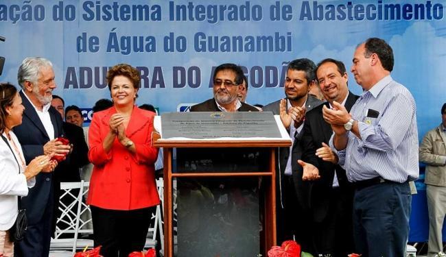 Presidenta Dilma Rousseff durante cerimônia de inauguração do Sistema Adutor da Região de Guanambi - Foto: Roberto Stuckert Filho l Agência Brasil l PR