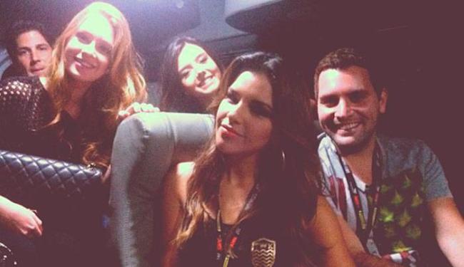 As atrizes Mariana Rios, Marina Ruy Barbosa e Giovanna Lancellotti foram juntas numa van - Foto: Reprodução | Instagram