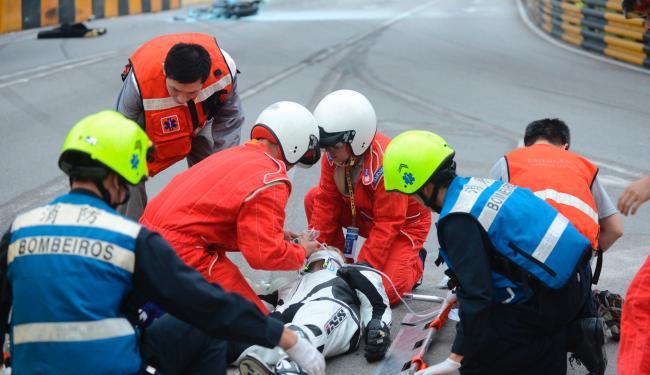 Luis Carreira chegou a ser atendido no local do acidente, mas não resistiu - Foto: Agência Reuters