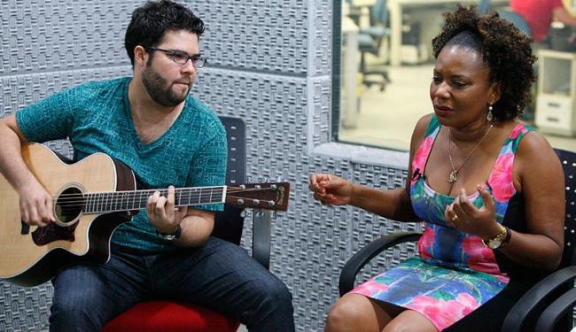 Maga durante a gravação do programa Formato MP3 do A TARDE TV - Foto: Marco Aurélio Martins | Ag. A TARDE