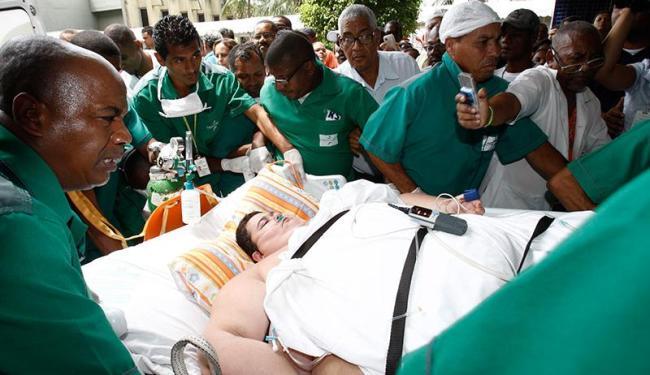Francisco foi transferido para o Hospital Roberto Santos na manhã desta quinta-feira, 22 - Foto: Lúcio Távora | Ag. A TARDE