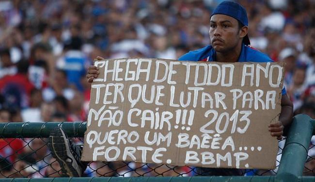 Em 2011, Bahia fugiu do rebaixamento na 37ª rodada; este ano, leva agonia para a última rodada - Foto: Lucio Tavora | Ag. A Tarde