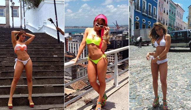 Carol Narizinho deixou o Centro Histórico muito mais bonito.... - Foto: Reprodução   Instagram