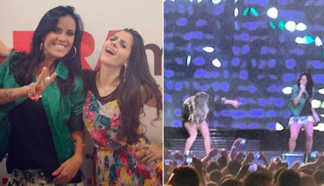 Ju Moraes postou, no Instagram, fotos com uma amiga e dividindo o palco com Claudia Leitte - Foto: Reprodução | Instagram