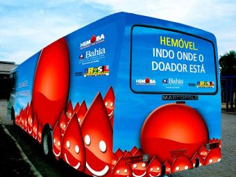 Unidade móvel realiza coleta até sexta-feira, 14 - Foto: Divulgação | Hemoba