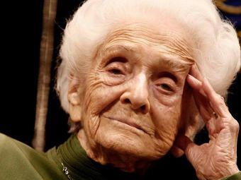 Senadora vitalícia italiana Rita Levi-Montalcini faleceu em Roma neste domingo - Foto: Divulgação