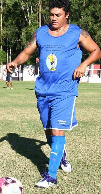 Ex-pugilista fez análise durante participação em baba de fim de ano no Barradão - Foto: Fernando Amorim/ Ag. A Tarde
