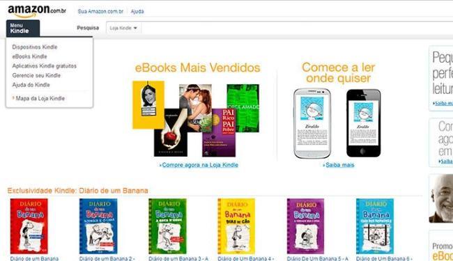 A Amazon brasileira tem apenas livros digitais á venda, por enquanto - Foto: Reprodução