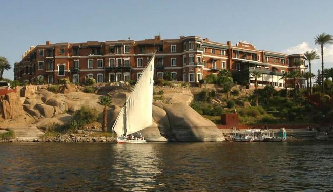 O hotel Old Cataract, no Egito, é cenário para A morte no Nilo, de 1937 - Foto: Divulgação