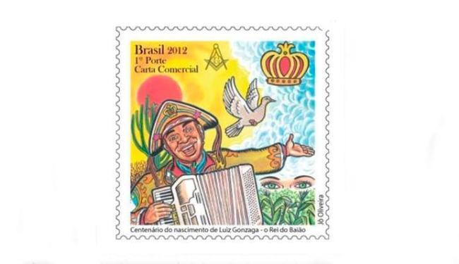 Luiz Gonzaga foi retratado em um selo comemorativo - Foto: Divulgação