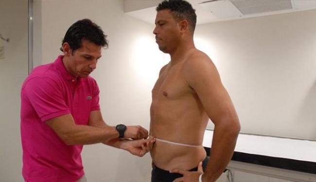 O jogador já aparece mais magro do que quando começou no quadro - Foto: Divulgação | TV Globo