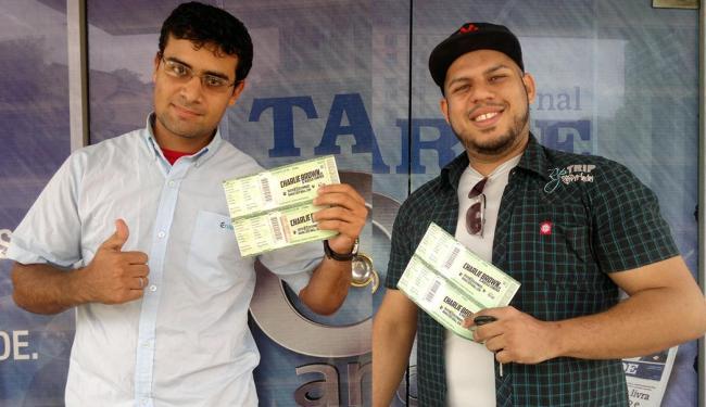Rodolfo da Silva Alves e Osan Lima Souza são dois dos ganhadores - Foto: Fotos: Juracy dos Anjos   Ag. A TARDE