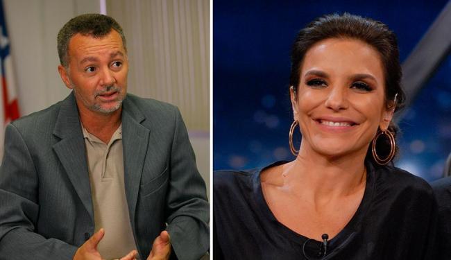 Bobô (ex-jogador) e a cantora Ivete Sangalo - Foto: Agência A TARDE
