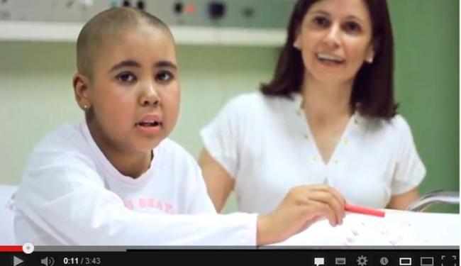 O material, de 3m42s de duração, tem como personagens pacientes em tratamento - Foto: Reprodução | Youtube