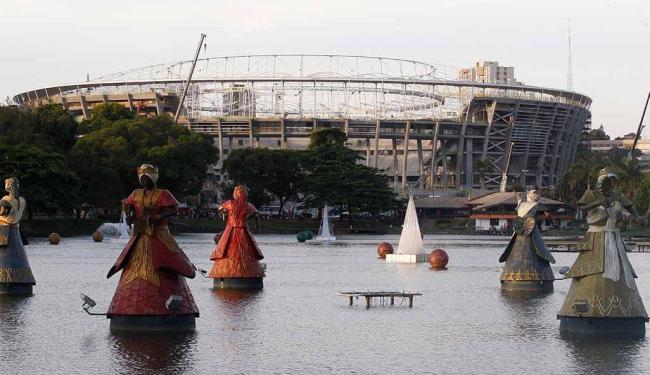 Arena Fonte Nova fecha o ano de 2012 com pouco mais 85% das suas obras concluídas - Foto: Lúcio Távora | Agência A TARDE