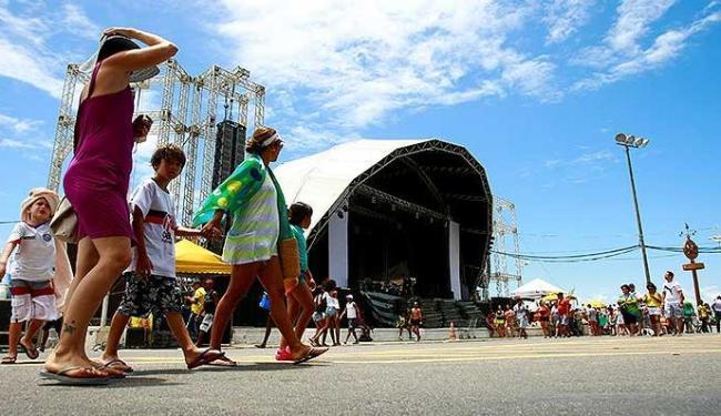Preparativos para festa de Reveillon na Barra foram finalizados neste domingo - Foto: Fernando Vivas| Agência A TARDE