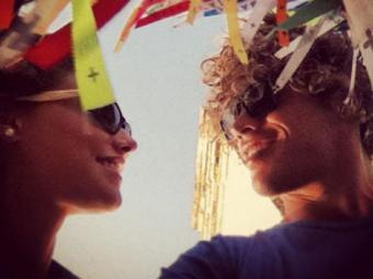 O casal posou para fotos na Igreja do Bonfim, em Salvador - Foto: Reprodução | Instagram