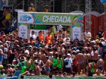 Prova de maratonas aquáticas baiana contará com participação de 148 atletas em sua 50ª edição - Foto: Travessia Mar Grande-Salvador   Divulgação