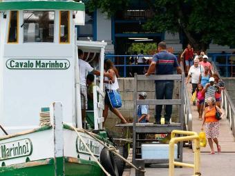 Oito embarcações operam na travessia Mar Grande-Salvador - Foto: Marco Aurélio Martins | Ag. A TARDE