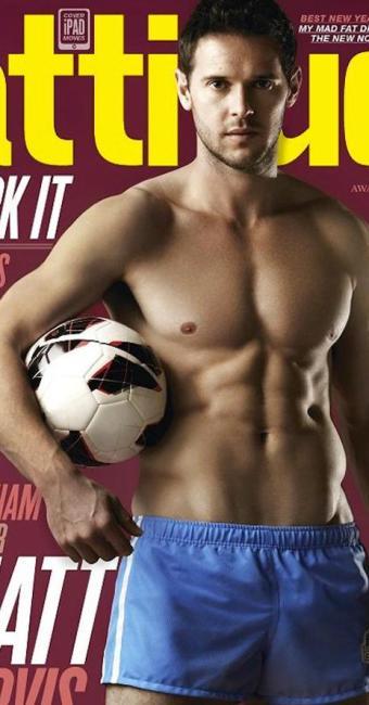 Heterossexual,meia Matt Jarvis, do West Ham, posa para a revista gay Attitude para encorajar atletas - Foto: Reprodução | attitude.co.uk