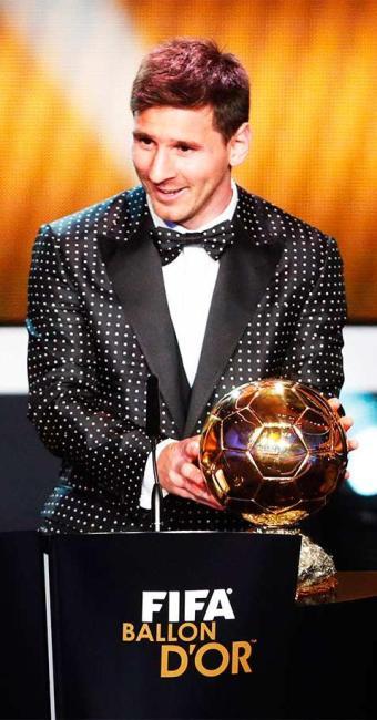 Argentino conquistou Bola de Ouro com 41,60% dos votos - Foto: Michael Buholzer | Agência Reuters
