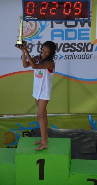 Garotada entre 9 e 12 anos também recebe premiação na Travessia Powerade Mar Grande/Salvador - Foto: Marcelo Machado / Ag. A Tarde