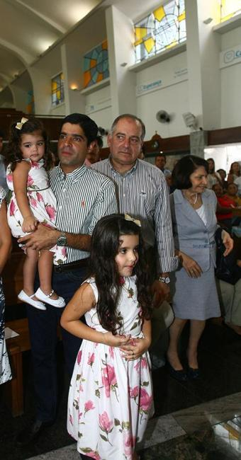 Neto assistiu a celebração acompanhado da família - Foto: Luciano da Mata | Ag. A TARDE