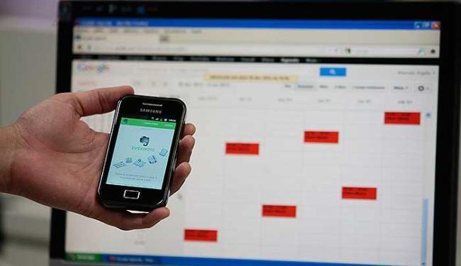 Evernote e Google Agenda são os mais utilizados para organização pessoal - Foto: Mila Cordeiro   Agência A TARDE