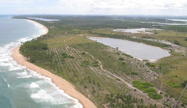 Vista aérea de Taipus de Fora, onde fica o resort no qual o político está hospedado - Foto: Antonio Queirós | Arquivo | Ag. A TARDE