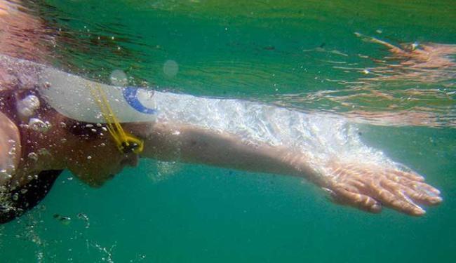 Para desespero dos atletas, nem todos os animais são dóceis como os golfinhos - Foto: Lúcio Távora | Ag. A TARDE