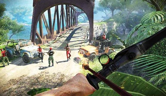 Diversas armas estão disponíveis em Far Cry 3 - Foto: Divulgação