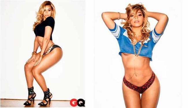 A cantora caprichou nas poses para mostrar as belas curvas à revista - Foto: Divulgação | GQ