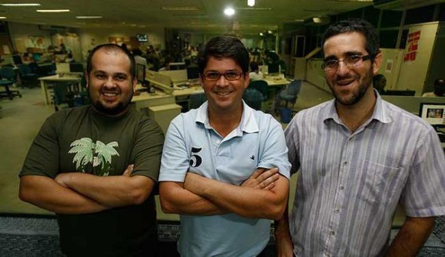 Menezes, Machado e Teles à frente do A TARDE Esporte Clube - Foto: Fernando Amorim   Ag. A TARDE