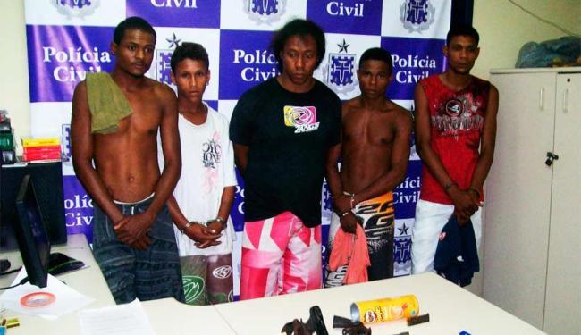 Presos foram encaminhados à Delegacia Territorial (DT) e autuados em flagrante - Foto: Divulgação | Polícia Civil