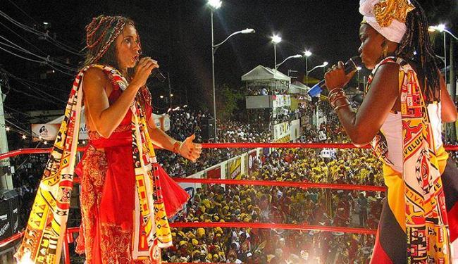 Uma das atrações confirmadas, Daniela Mercury homenageou o bloco afro no carnaval de 2012 - Foto: Carlos Casaes | Ag. A TARDE