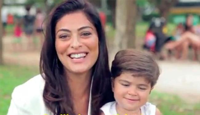 No video, Juliana Paes e o filho, Pedro - Foto: Reprodução | Facebook