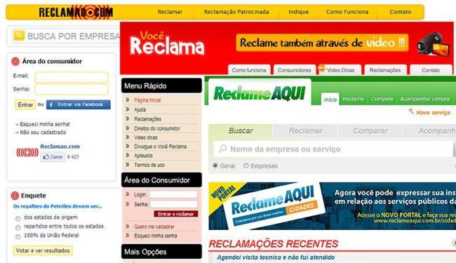 Sites recebem as reclamações dos internautas e informam às empresas - Foto: Reprodução